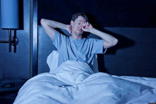 Man With Insomnia Thinking About The Gym